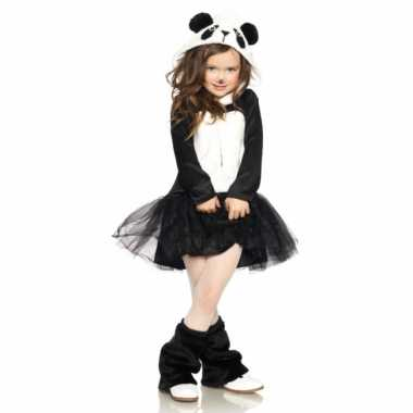 Carnavalspak panda jurkje voor meisjes