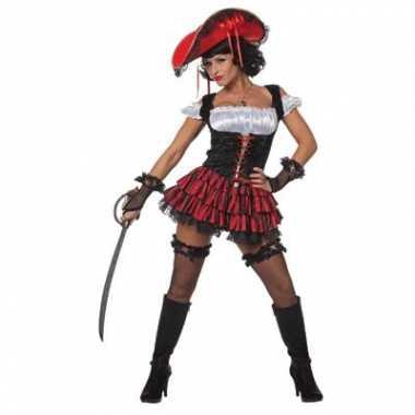 Carnavalspak piraten jurk dames