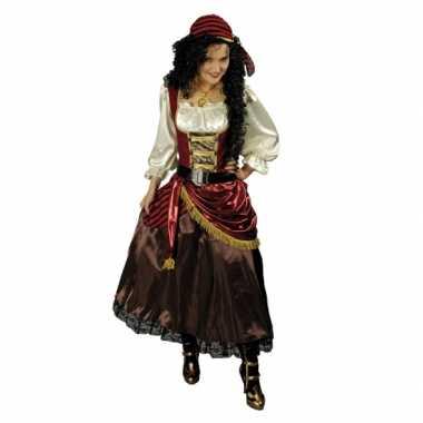 Carnavalspak piratenjurk met accessoires