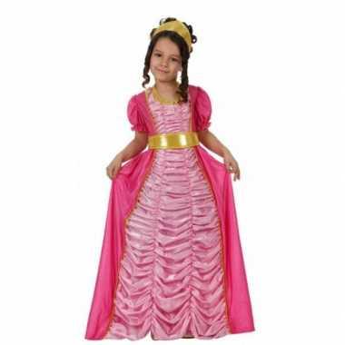 Carnavalspak prinses roze voor meisjes