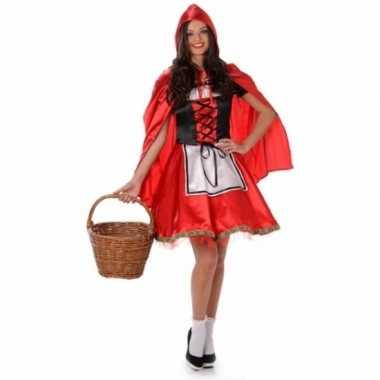 Carnavalspak roodkapje voor dames