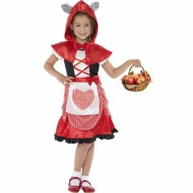 Carnavalspak roodkapje voor meisjes