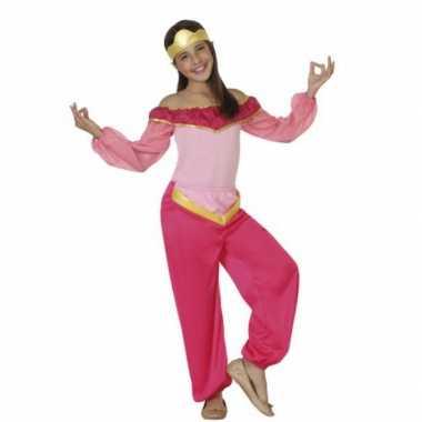 Carnavalspak roze arabische prinses