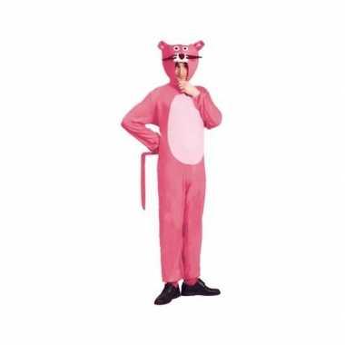 Carnavalspak roze panther voor volwassenen