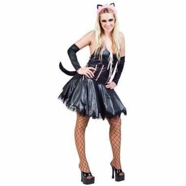 Carnavalspak sexy kat/poes zwart