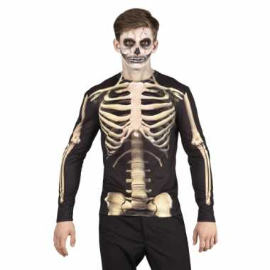 Carnavalspak skelet heren shirt