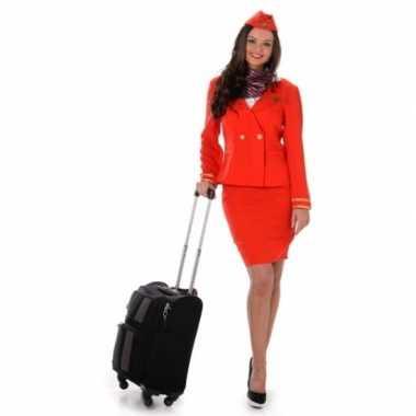 Carnavalspak stewardess rood