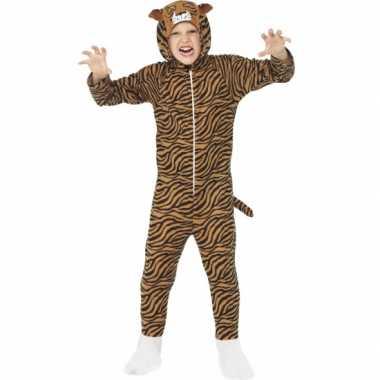 Carnavalspak tijger all-in-one voor kinderen