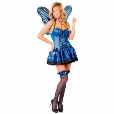 Carnavalspak vlinder carnavalspak blauw
