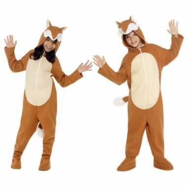 Carnavalspak vos all-in-one voor kinderen