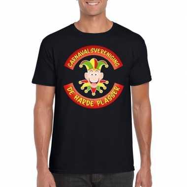 Carnavalsvereniging de harde plasser limburg heren t shirt zwart