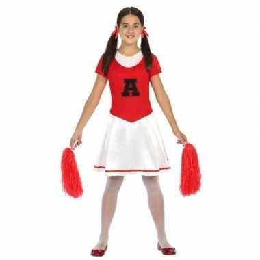 Cheerleader jurk/jurkje verkleed carnavalspak voor meisjes