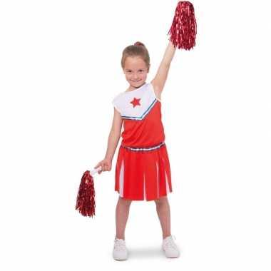 Cheerleader pakje verkleed carnavalspak voor meisjes