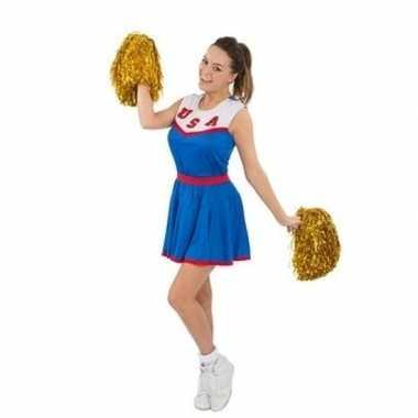 Cheerleaders carnavalspak met pom poms voor dames