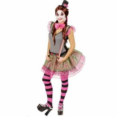 Clown carnavalspak voor dames