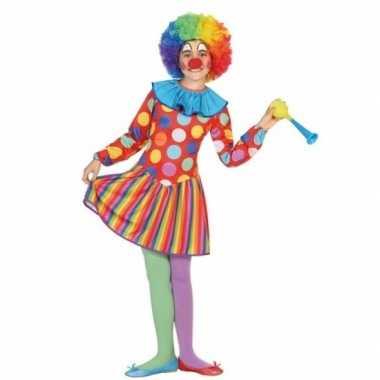 Clown dotty carnavalspak voor meisjes