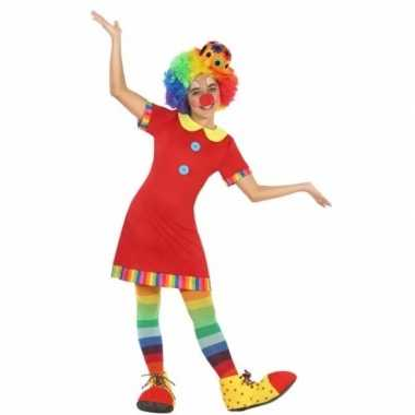 Clown floppy carnavalspak voor meisjes
