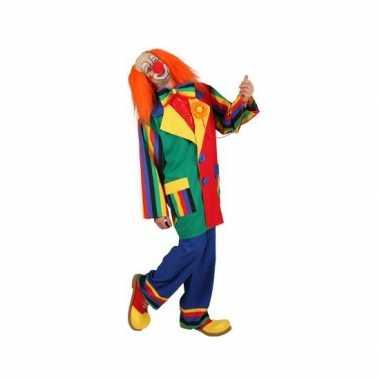 Clown verkleed carnavalspak voor mannen