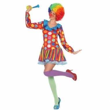 Clown verkleed jurkje/carnavalspak voor dames