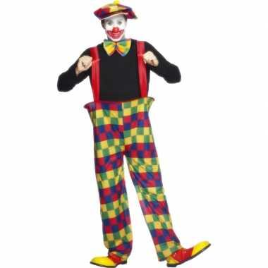 Clowns carnavalspak volwassenen
