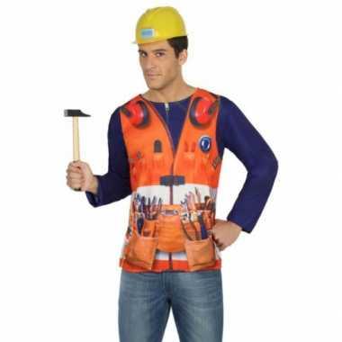 Compleet bouwvakker carnavalspak voor heren