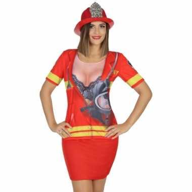 Compleet brandweer carnavalspak voor dames