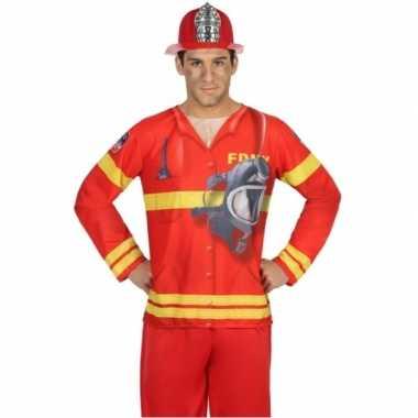 Compleet brandweer carnavalspak voor heren