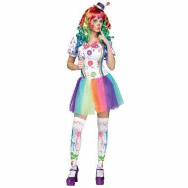 Compleet clowns carnavalspak paint voor dames