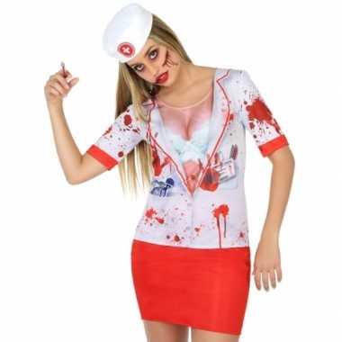 Compleet horror zuster carnavalspak voor dames