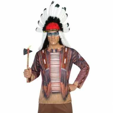 Compleet indiaan carnavalspak voor heren