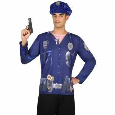 Compleet politie carnavalspak voor heren