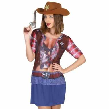 Compleet sheriff carnavalspak voor dames