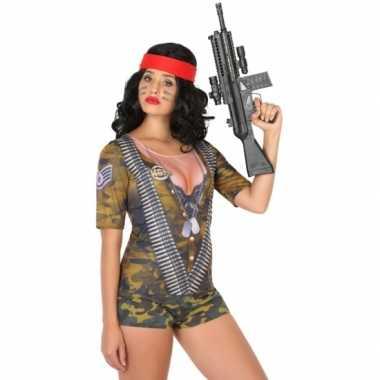 Compleet soldaat carnavalspak voor dames