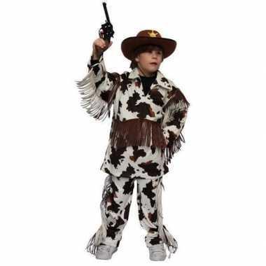 Cowboy carnavalspak met koeienprint voor kinderen