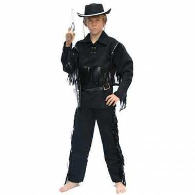 Cowboy carnavalspak voor kinderen zwart