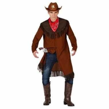 Cowboy/western jas verkleed carnavalspak voor heren
