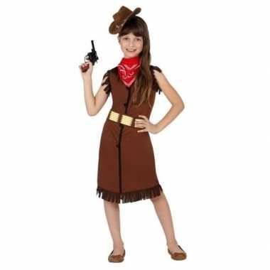 Cowgirl/cowboy carnavalspak/jurk voor meisjes