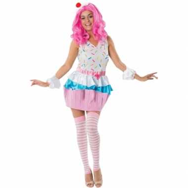 Cupcakejes carnavalspak voor dames