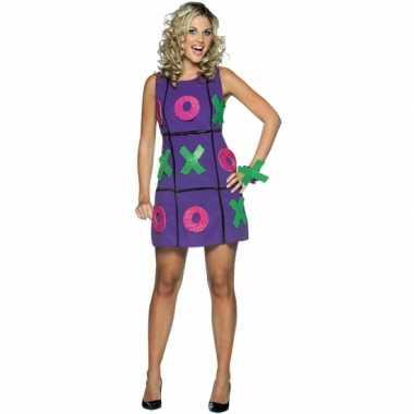 Dames carnavalspak jurk paars