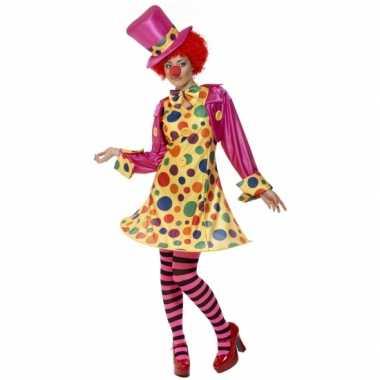 Dames clowns carnavalspak