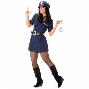 Dames politie carnavalspak