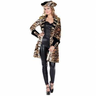 Dames tijgerprint carnavalspak jas