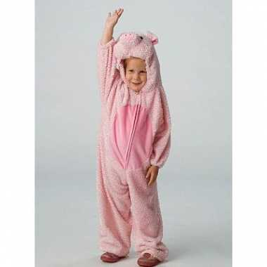 Dieren carnavalspak varken voor kids