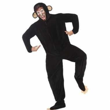 Dierenpak apen/chimpansee verkleedcarnavalspak voor volwassenen