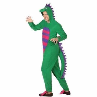 Dierenpak groene draak verkleedcarnavalspak voor heren