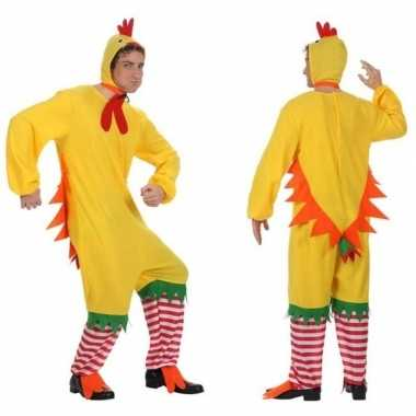 Dierenpak kip/haan/kuiken verkleed carnavalspak voor volwassenen