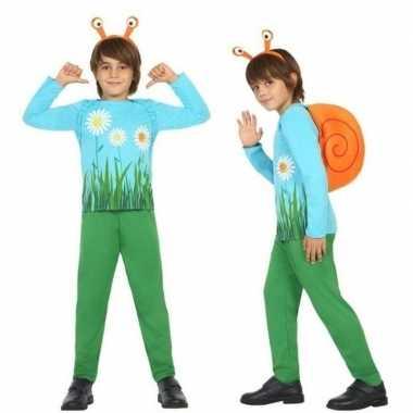 Dierenpak slak/slakken verkleed carnavalspak voor jongens