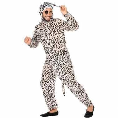Dierenpak verkleed carnavalspak dalmatier hond voor volwassenen