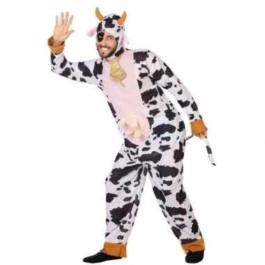 Dierenpak verkleed carnavalspak koe voor volwassenen
