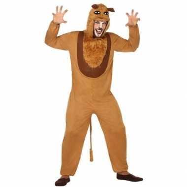 Dierenpak verkleed carnavalspak leeuw voor volwassenen